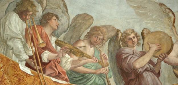 Engelskonzert - Fresco von Guido Reni (1609) in San Gregorio Magno, Rom (links) 625x300