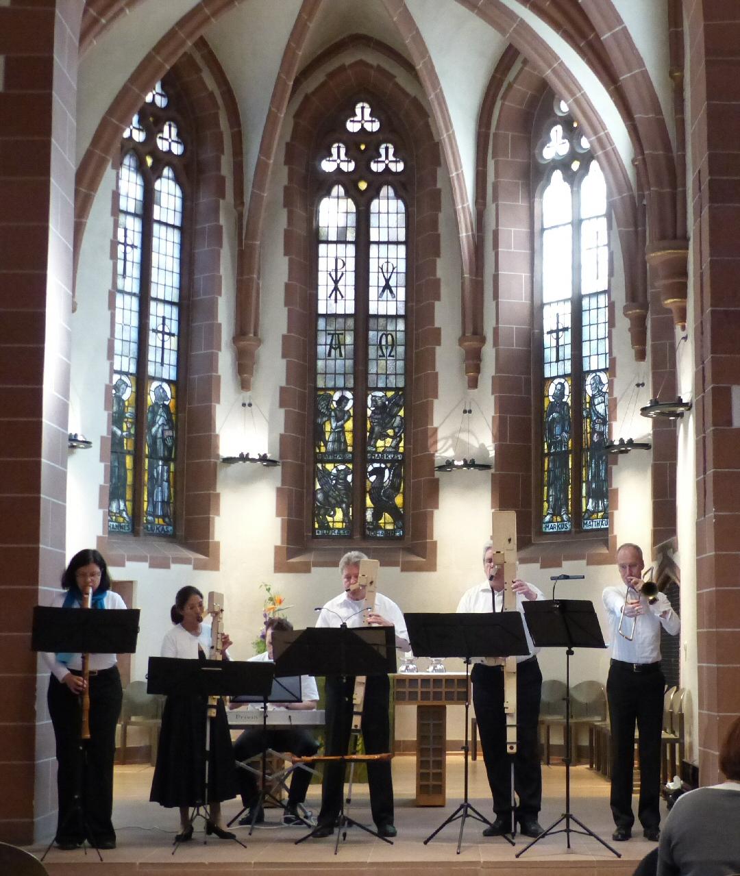 Blockflöten & Barockposaune 25.9.2016 Alte Nikolaikirche Frankfurt - 1