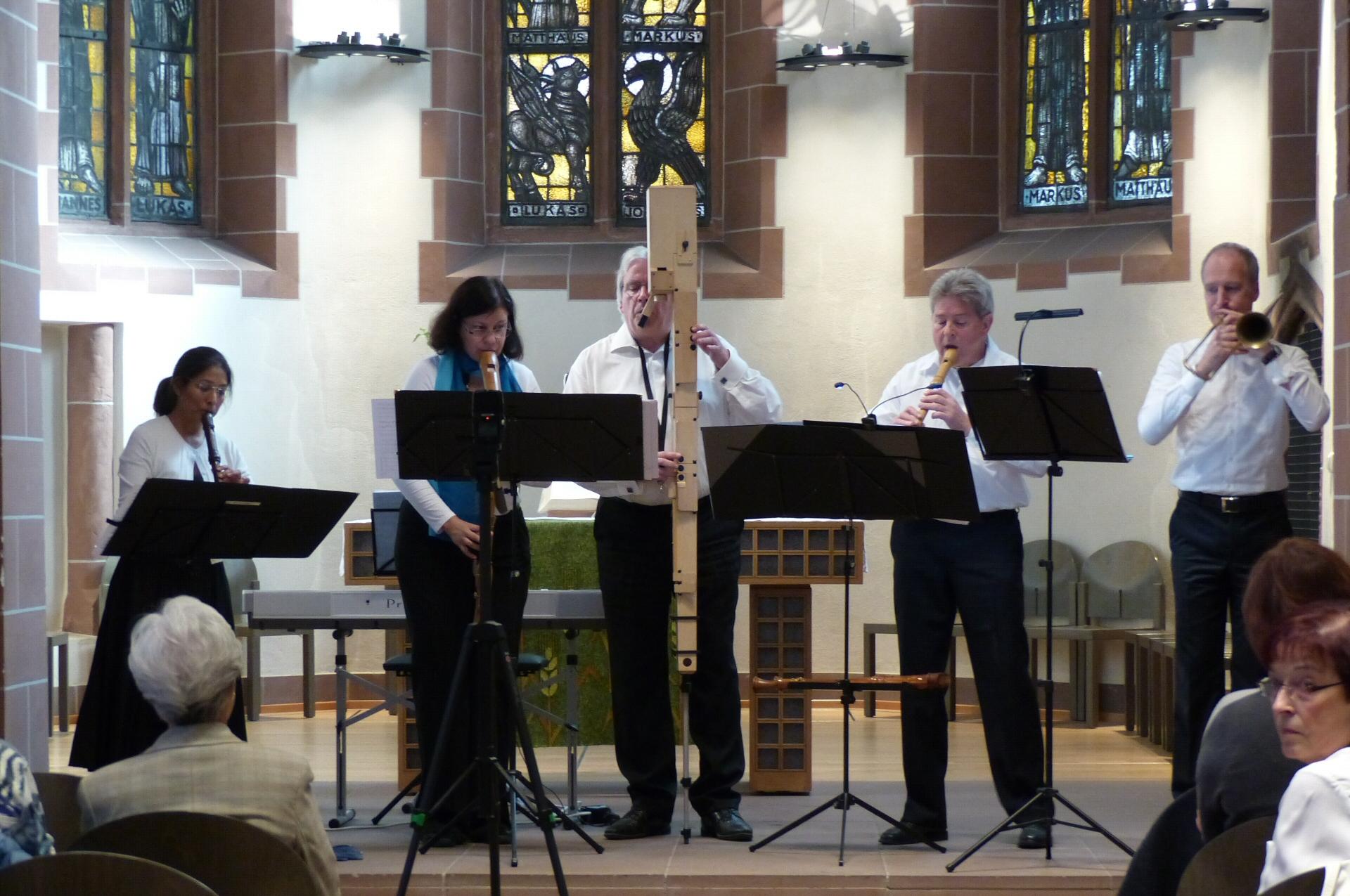 Blockflöten & Barockposaune 25.9.2016 Alte Nikolaikirche Frankfurt - 2